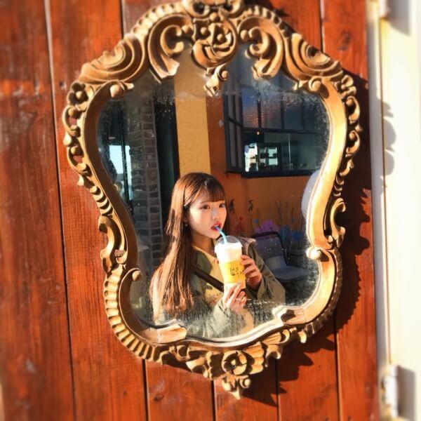 チェジュ島の絶景カフェ済州ボムナルの鏡