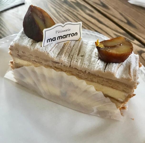 チェジュ島のカフェママロンの一番人気のマロンモンブラン