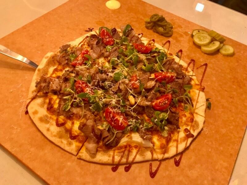 チェジュ島のピザPizzaJKのプルコギピザ