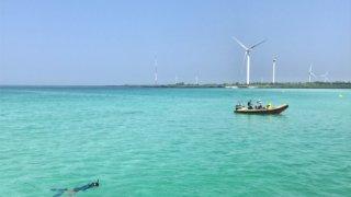チェジュ島(済州島)のキムニョンビーチの海
