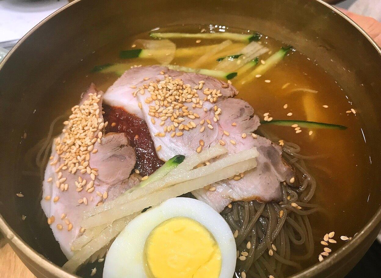チェジュ島の韓国冷麺