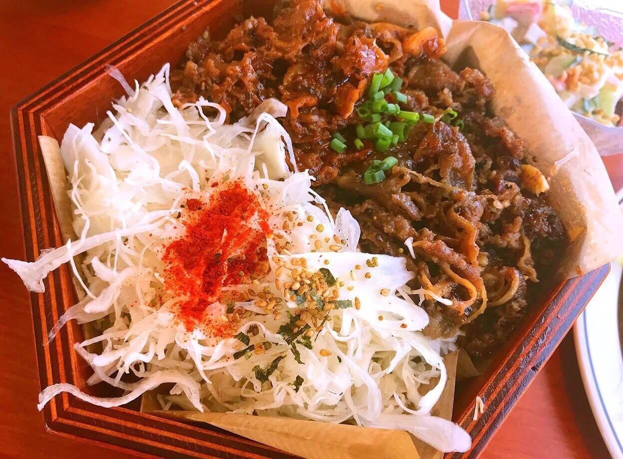 韓国料理屋さんのプルコギ