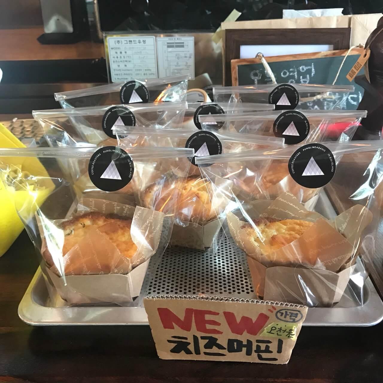 韓国・チェジュ島カフェプンニムダバンのチーズケーキ