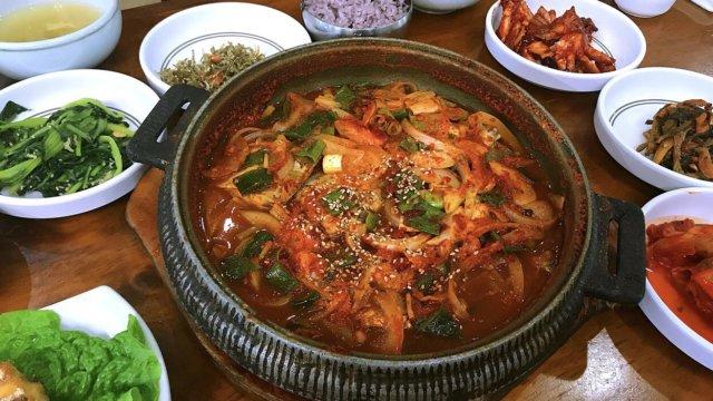 チェジュ島のユリネ食堂の太刀魚(タチウオ)