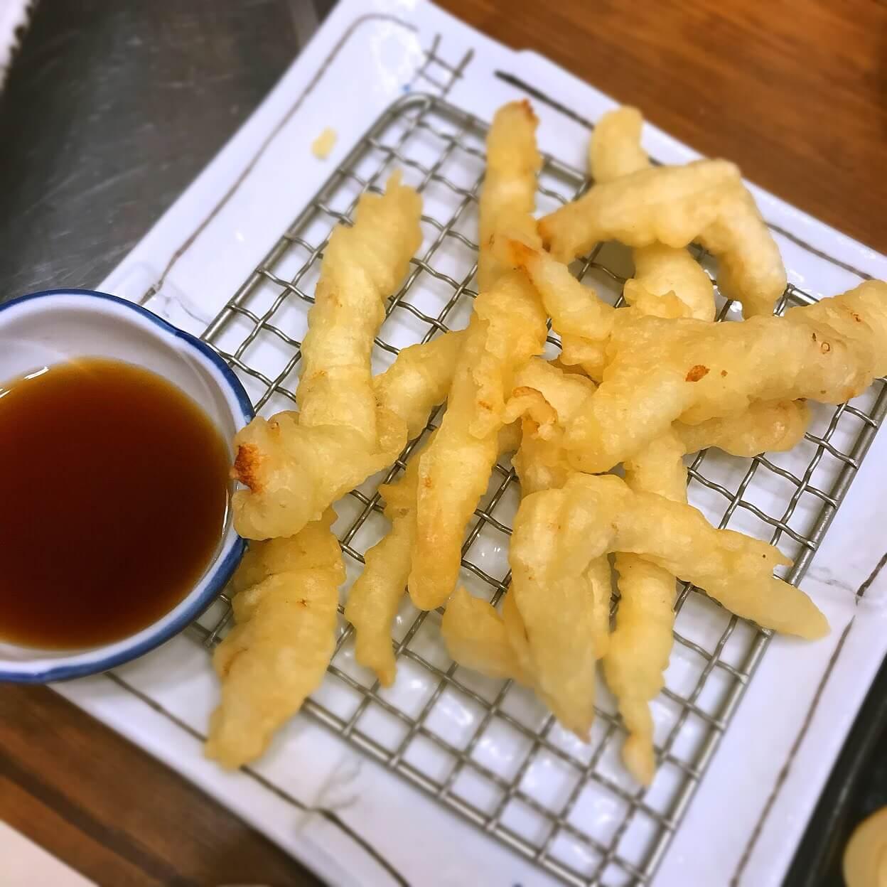 チェジュ島のふぐの天ぷら