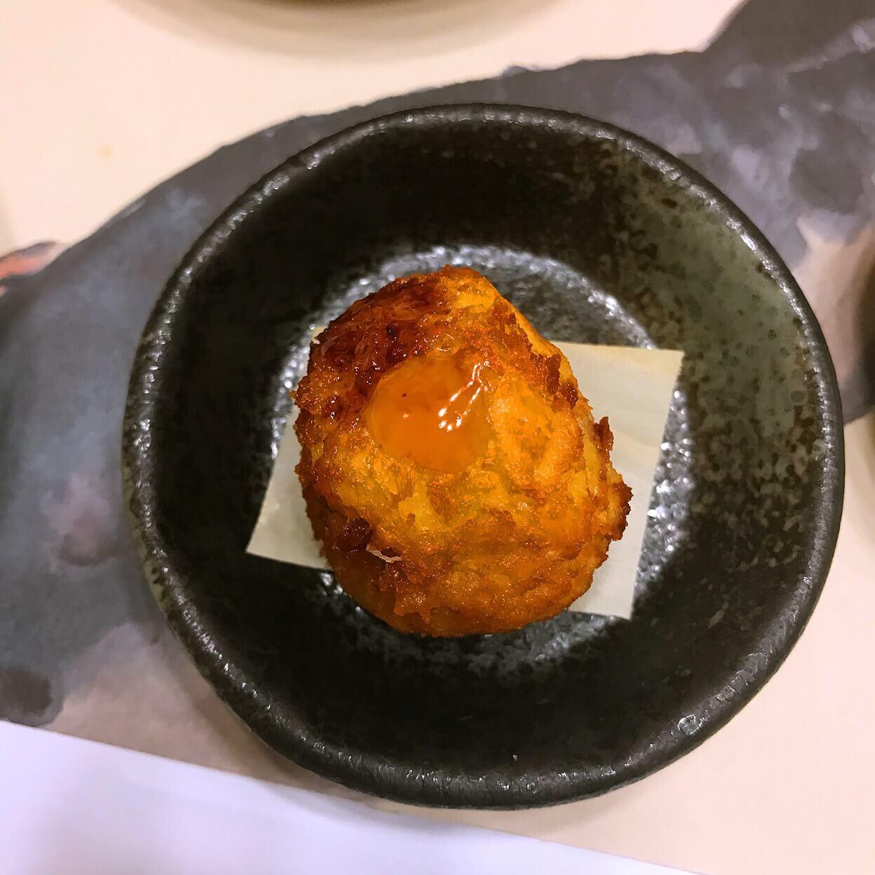 チェジュ島のふぐの白子の天ぷら