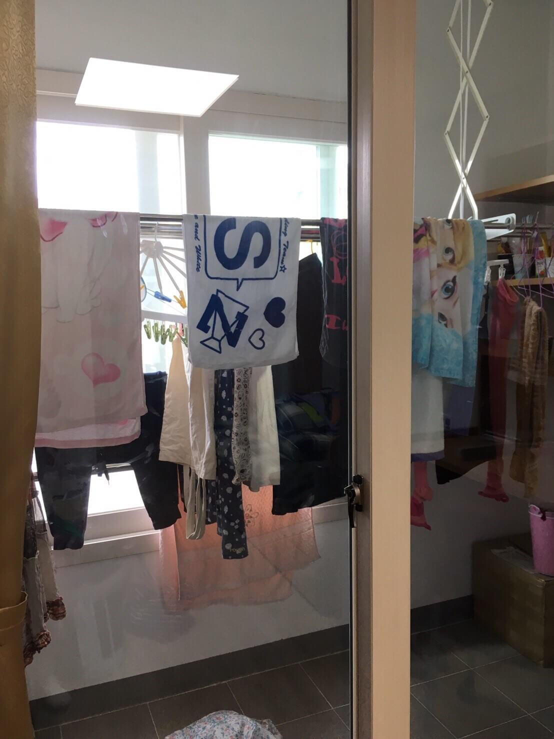 済州大学の寮のベランダ