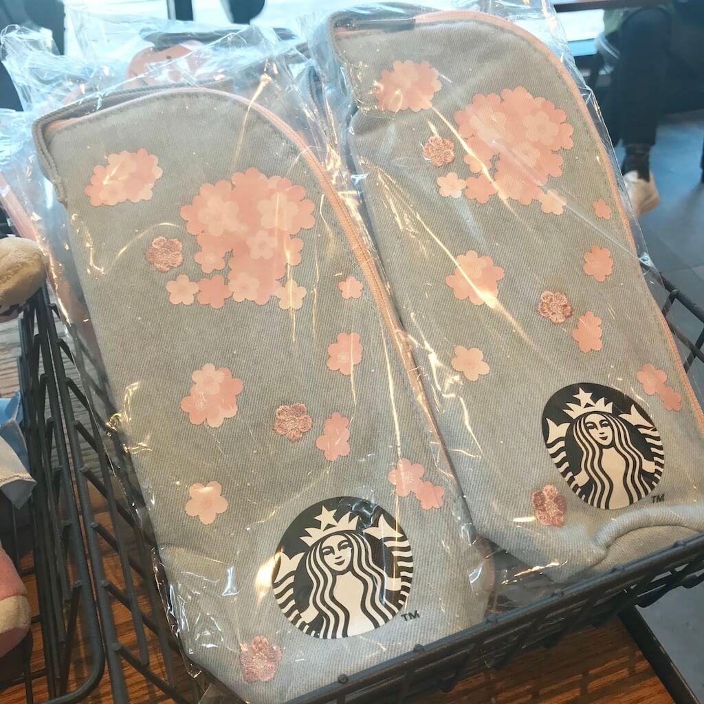 韓国スタバ限定の桜の水筒入れ