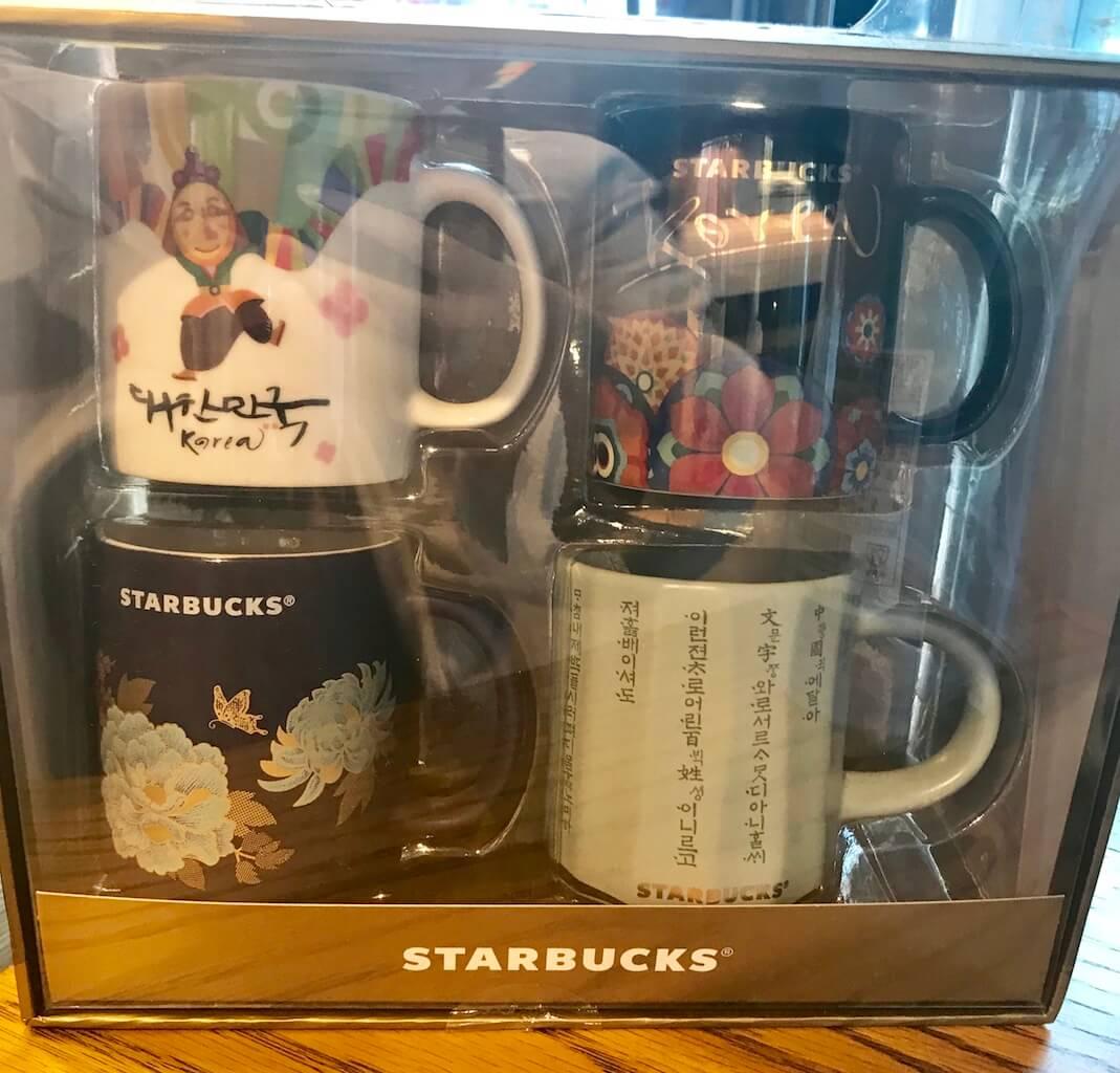 韓国スタバ限定のマグカップ4つセット