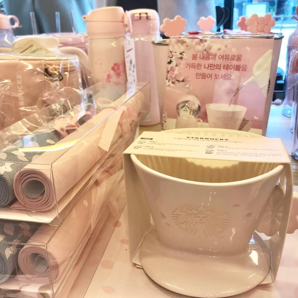 韓国スタバ限定の桜のランチョンマット・コーヒーグッズ